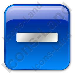 Minus Box Blue Icon