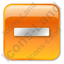 Minus Box Orange Icon
