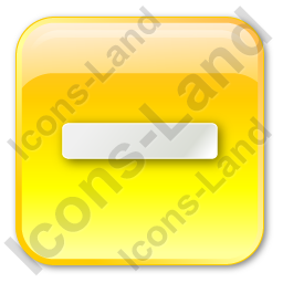 Minus Box Yellow Icon