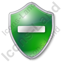 Minus Shield Green Icon