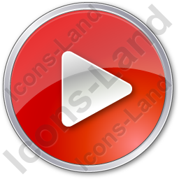 Play Red Icon, PNG/ICO, 256x256