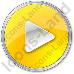 Play Yellow Icon, PNG/ICO, 256x256