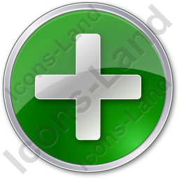 Plus Circle Green Icon, PNG/ICO, 256x256
