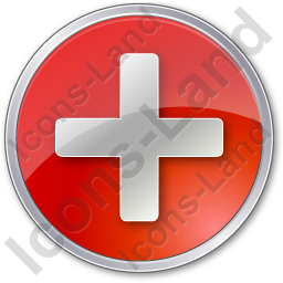 Plus Circle Red Icon