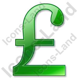 Pound Sterling Green Icon