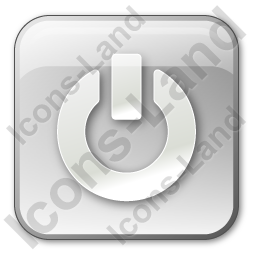 Power Box Grey Icon, PNG/ICO, 256x256