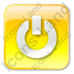Power Box Yellow Icon, PNG/ICO, 256x256