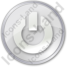 Power Circle Grey Icon