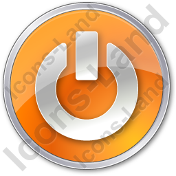 Power Circle Orange Icon