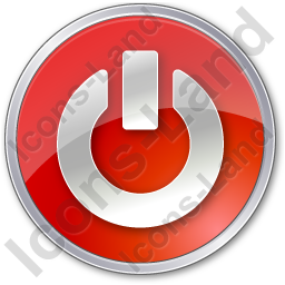 Power Circle Red Icon, PNG/ICO, 256x256