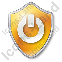 Power Shield Yellow Icon