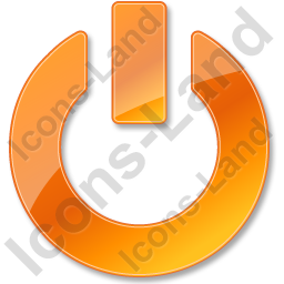 Power Orange Icon, PNG/ICO, 256x256