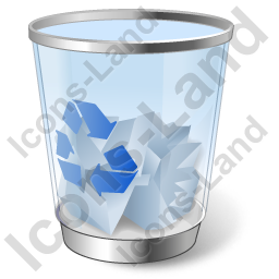 Recycle Bin 2 Full Icon, PNG/ICO, 256x256