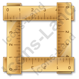 Ruler 4 Icon, PNG/ICO, 256x256