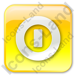 Shutdown Box Yellow Icon, PNG/ICO, 256x256