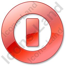 Shutdown Red Icon