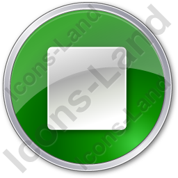 Stop Green Icon, PNG/ICO, 256x256
