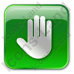 Stop Box Green Icon, PNG/ICO, 256x256