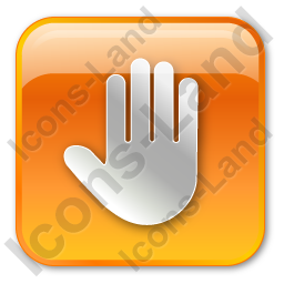 Stop Box Orange Icon, PNG/ICO, 256x256