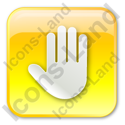 Stop Box Yellow Icon, PNG/ICO, 256x256
