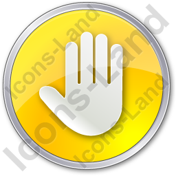Stop Circle Yellow Icon, PNG/ICO, 256x256
