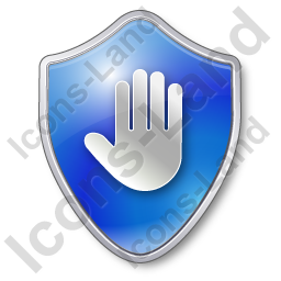 Stop Shield Blue Icon, PNG/ICO, 256x256