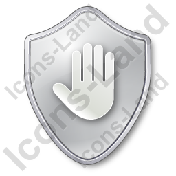 Stop Shield Grey Icon, PNG/ICO, 256x256