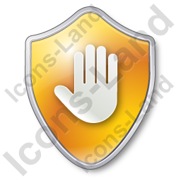 Stop Shield Yellow Icon