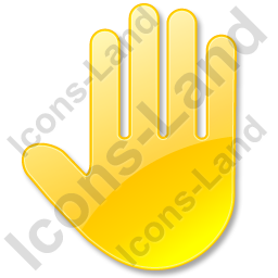 Stop Hand Yellow Icon