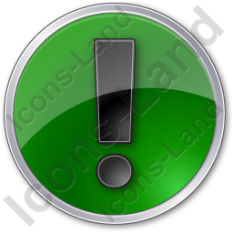 Warning Circle Green Icon