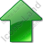 Arrow Up Green Icon