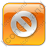 Cancel Box Orange Icon, PNG/ICO, 48x48