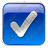 Checked Box Blue Icon, PNG/ICO, 48x48