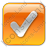 Checked Box Orange Icon