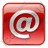 EMail Box Red Icon, PNG/ICO, 48x48