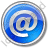 EMail Circle Blue Icon, PNG/ICO, 48x48