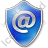 EMail Shield Blue Icon, PNG/ICO, 48x48