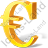 Euro 3D Yellow Icon