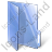 Folder Opened Blue Icon, PNG/ICO, 48x48