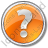 Help Circle Orange Icon, PNG/ICO, 48x48