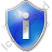 Info Shield Blue Icon, PNG/ICO, 48x48