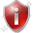 Info Shield Red Icon, PNG/ICO, 48x48