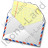 Mail 1 Opened Icon, PNG/ICO, 48x48