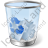 Recycle Bin 2 Full Icon, PNG/ICO, 48x48