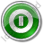 Shutdown Circle Green Icon