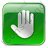 Stop Box Green Icon