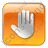 Stop Box Orange Icon, PNG/ICO, 48x48