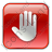 Stop Box Red Icon, PNG/ICO, 48x48