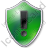Warning Shield Green Icon