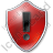 Warning Shield Red Icon